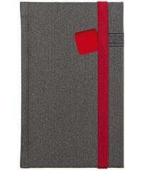 GRASPO CZ, a.s. Notes kapesní Mambo červený čtverečkovaný, objednávka od 100 ks N-KVC-009-17