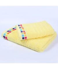 Bade Home Ručník a osuška Mozaika světle žlutá
