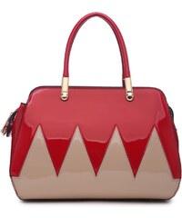 Červeno starorůžová kabelka do ruky Loane