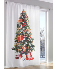 bpc living Panneau Sapin de Noël (1 pce.), coulisse passe-tringle blanc maison - bonprix
