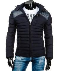 Pánská zimní bunda - Edward, modrá