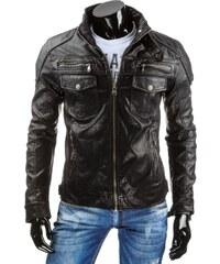 Pánská kožená bunda - Renato, černá