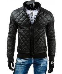 Pánská kožená bunda - Antonio, černá