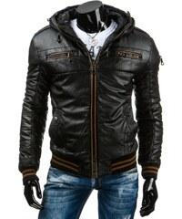 Pánská kožená bunda - Simon, černá