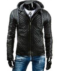 Pánská kožená bunda - Leonard, černá