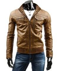 Pánská kožená bunda - Louis, hnědá