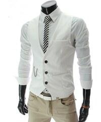Pánská společenská vesta - bílá