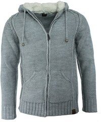 ESTARE svetr pánský 695 na zip kapuce s kožíškem