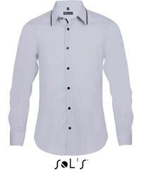Pánská košile s dlouhým rukávem Sols Baxter Men