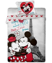 Jerry Fabrics Povlečení Mickey and Minnie v Paříži 140x200 70x90 cm