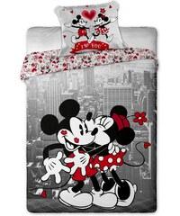 Jerry Fabrics Povlečení Mickey and Minnie v NY 140x200 70x90 cm