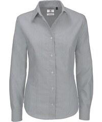 Dámská popelínová košile s dlouhým rukávem Oxford B&C