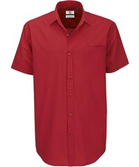 Pánská popelínová košile s krátkým rukávem B&C Heritage