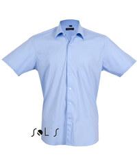 Pánská elastická košile s krátkým rukávem Sol´s - Broadway