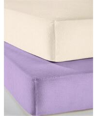 bpc living Jersey Microfaser Spannbettlaken, 2er-Pack, Jersey Microfaser in lila von bonprix