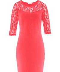 bpc bonprix collection Punto di Roma Kleid mit 3/4- Arm/Sommerkleid in rot von bonprix