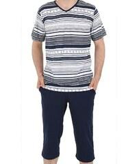 Pánské pyžamo Bruno modré M