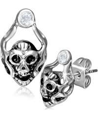 DAMSON Ocelové náušnice Ghost Skull