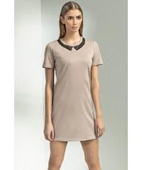 Šaty Nife S53, 38 béžová