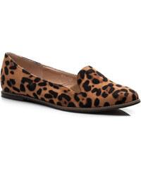 FARASION Semišové leopardí balerínky 41