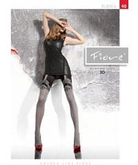 Punčochové kalhoty Fiore Rubina G 5740 40 den černo-bílá, 4-L
