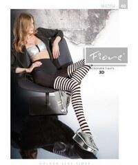 Punčochové kalhoty Fiore Madisa G 5739 40 den černo-bílá, 3-M