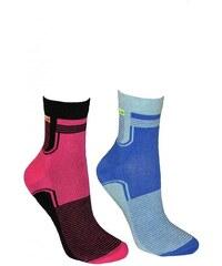 Ponožky Bratex Women Sportovní Polofrotté 051 mix barev-mix vzor, 35-38