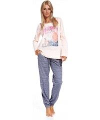 Pyžamo Cornette 684/01 Birds růžový, XL