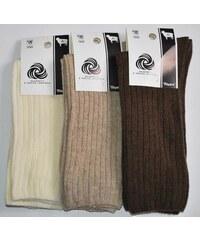 Ponožky Skarpol s jehněčí vlnou béžová, 27-28