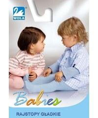 Punčochové kalhoty Wola Babies bavlněné - hladké šedá, 62-74