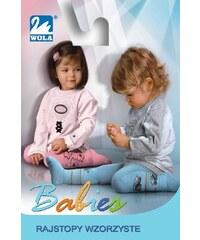 Punčochové kalhoty Wola Babies bavlněné - vzorované mix barva-mix vzor holčička, 80-86