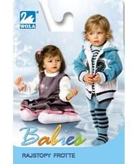 Punčochové kalhoty Wola Babies Froté Vnější bílá, 80-86