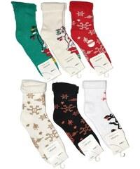 Ponožky Bratex Women Vánoční mix barev, 39-41