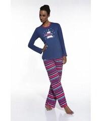 Cornette Dámské pyžamo 655/11 billow granátová XL