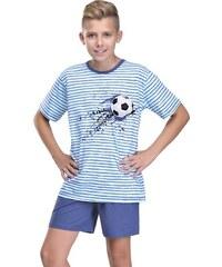 Chlapecké pyžamo Max s míčem modré 152