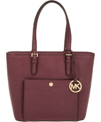 Michael Kors Sacs portés main, Jet Set Item MD TZ Snap Pocket Tote Leather Plum en parme