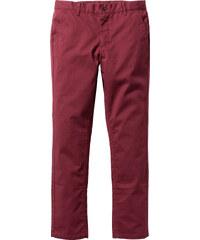 RAINBOW Pantalon Slim Fit Straight rouge homme - bonprix