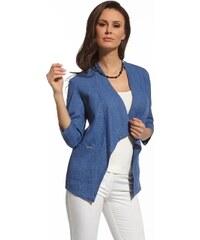 Dámský kabátek Ennywear 210031 len, 42 modrá jeans