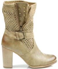 BETLER Krásné béžové kotníčkové boty s průstřihy 40