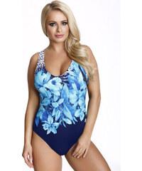 ba0a003ae Primo Dámske jednodielne plavky Beate čierne s modrými kvetmi XXL