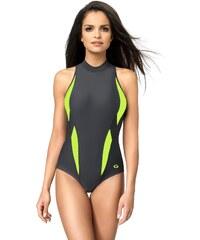 Jednodílné plavky gWINNER Aqua Sport II, 36 šedá/zelená