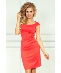NUMOCO Dámské šaty Elegantní korálové 88f9582159