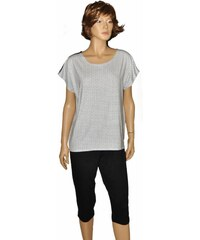 Dámské pyžamo De Lafense 598 Rebecca kr/r černá-bílá, XL