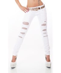 Redseventy Bílé džíny s páskem