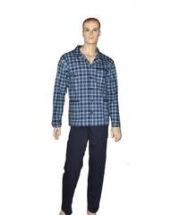 Pánské pyžamo Cornette 114/17 rozpinana M-2XL tmavě modrá, XXL