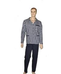 Pánské pyžamo Cornette 114/14 rozpinana M-2XL tmavě modrá, L
