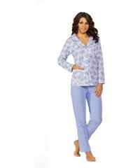 Dámské pyžamo Luna 524 M-2XL dł/r modrá, XL
