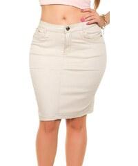 Koucla Džínová sukně plus size
