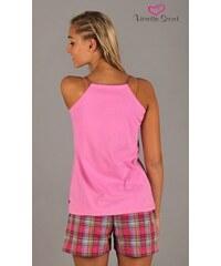 Dámské pyžamo šortky na ramínka Méďa Libor světle růžová XL