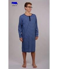 Pánská noční košile s dlouhým rukávem Adam modrá M